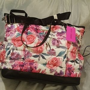 Betsey Johnson floral tote NWT